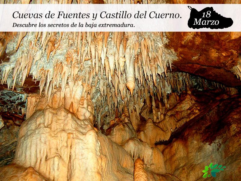 Cuevas de Fuentes de León y Castillo del Cuerno | 18 de Marzo